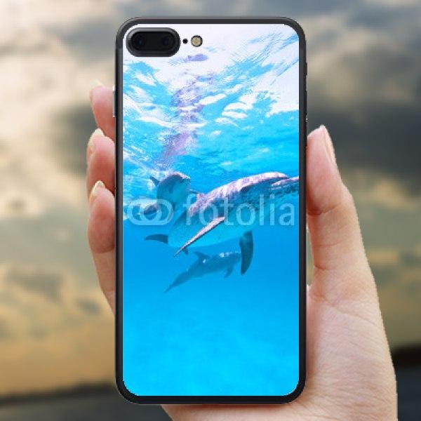 【スキンシール】iPhone 7 Plus 群れで泳ぐイルカ