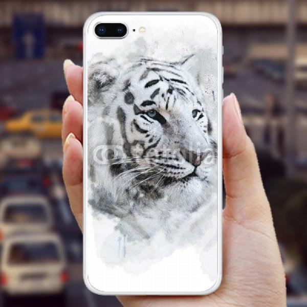 【スキンシール】iPhone 8 Plus ホワイトタイガー