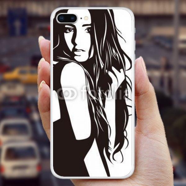 【スキンシール】iPhone 8 Plus モノトーンの女性