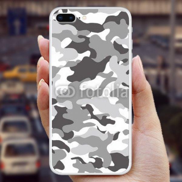 【スキンシール】iPhone 8 Plus 自衛隊風迷彩 グレー