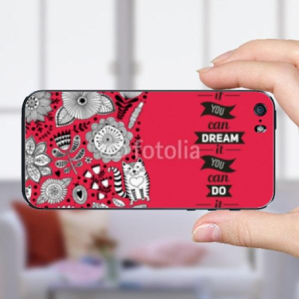 【スキンシール】iPhone SE ハーブとネコ