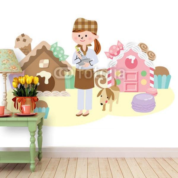 【壁紙】お菓子の国はがせる壁紙