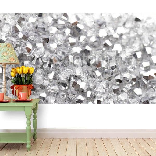 【壁紙】ガラスのビーズ風はがせる壁紙