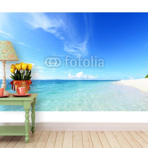 【壁紙】沖縄の海と夏空はがせる壁紙