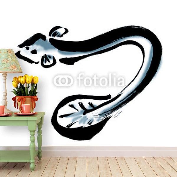 壁紙うなぎの和風イラスト はがせる壁紙
