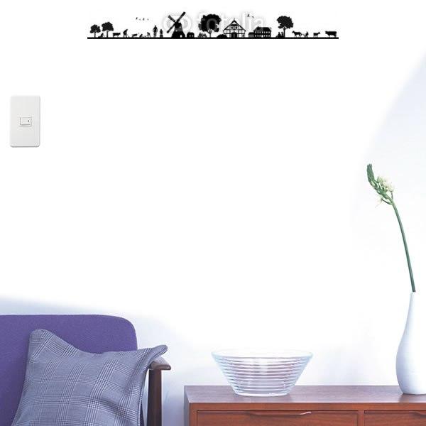 【インテリアシール】農場と風車のある風景 壁シール