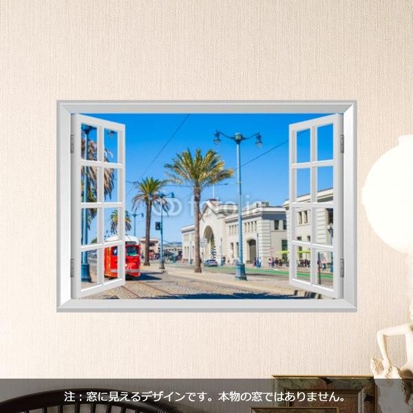 【インテリアシール】サンフランシスコの街並み 壁シール