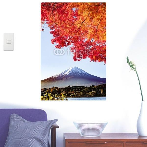 【インテリアシール】富士山と紅葉 壁シール