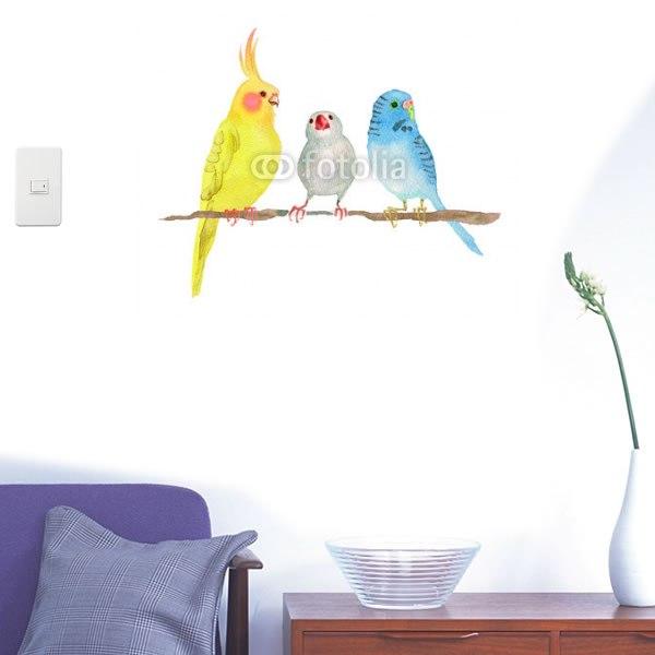 【インテリアシール】小鳥たちの集い 壁シール