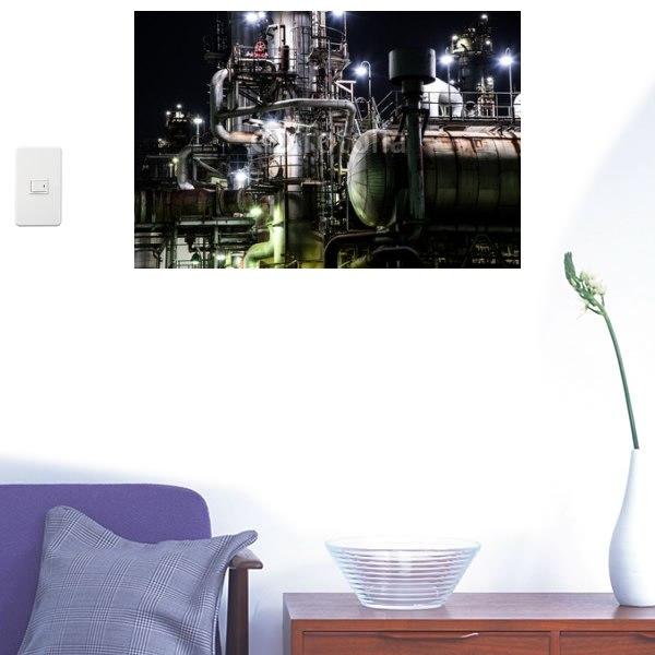 【インテリアシール】工場の機械設備 壁シール