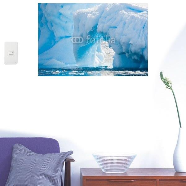 【インテリアシール】南極の氷河 壁シール