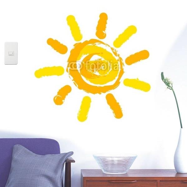 【インテリアシール】太陽のイラスト 壁シール