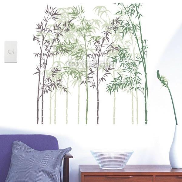 【インテリアシール】やさしい竹林 壁シール