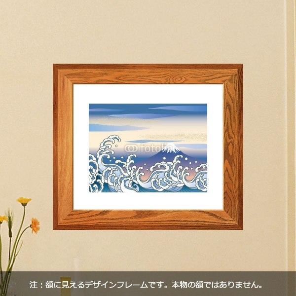【インテリアシール】波と富士 壁シール