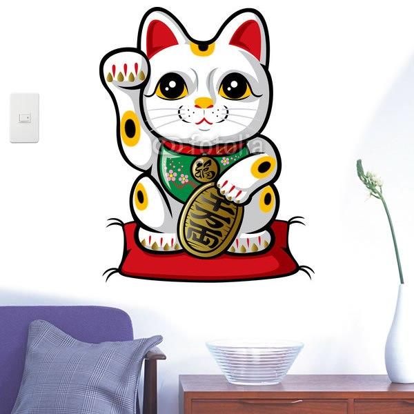 【インテリアシール】商売繁盛の招き猫 壁シール