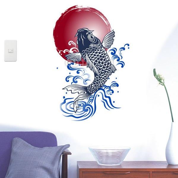 【インテリアシール】日本的な鯉 壁シール