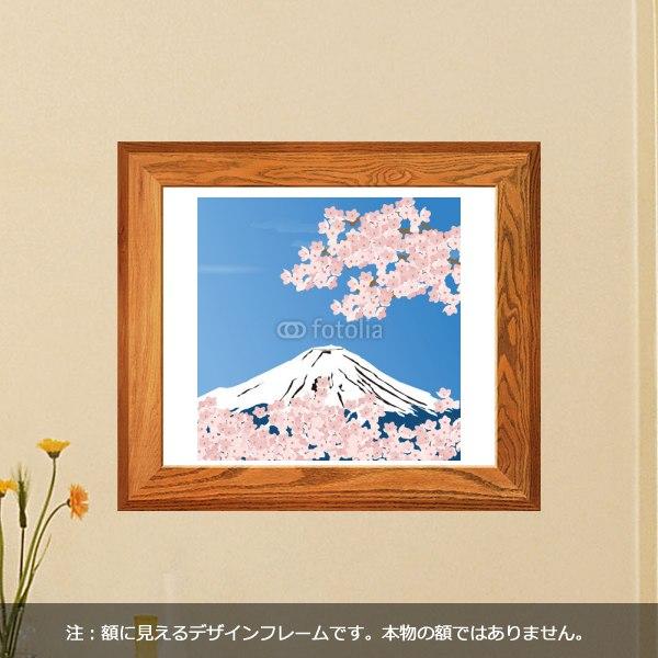 【インテリアシール】富士山と桜 壁シール