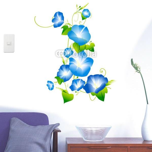 【インテリアシール】朝顔の花 壁シール