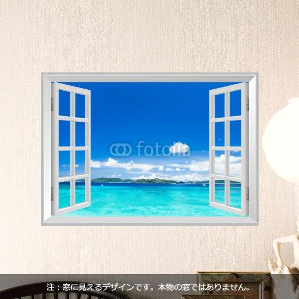 【インテリアシール】沖縄の海・渡嘉敷島 壁シール
