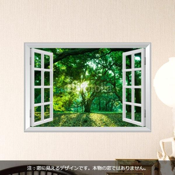 【インテリアシール】森林の木漏れ日 壁シール