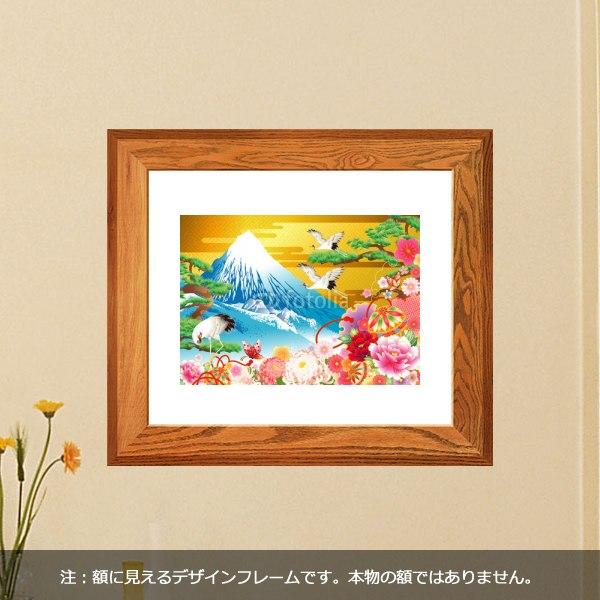 【インテリアシール】豪華絢爛な富士山 壁シール