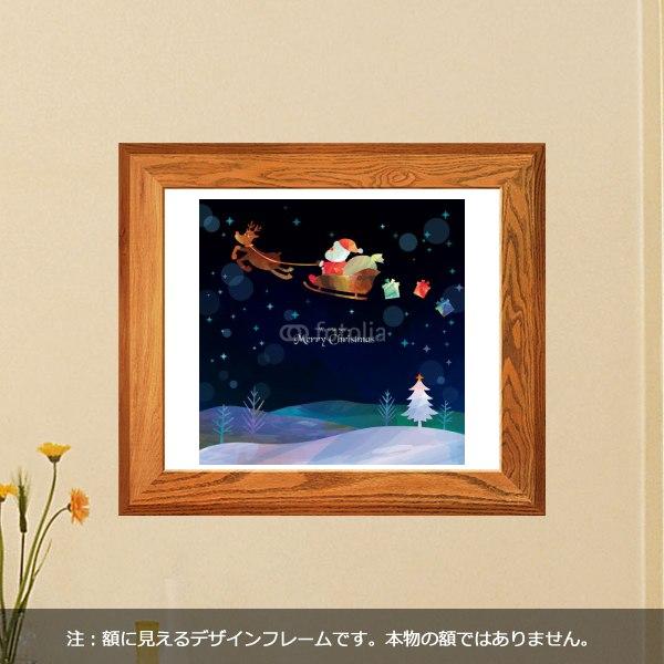 【インテリアシール】空飛ぶサンタ 壁シール