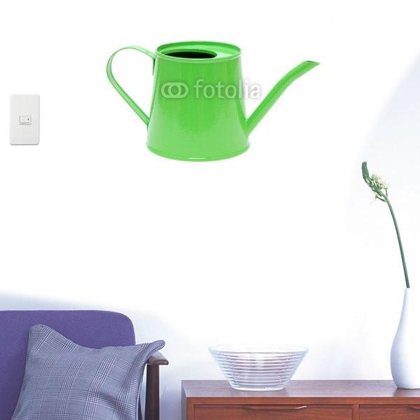 【インテリアシール】緑のじょうろ 壁シール