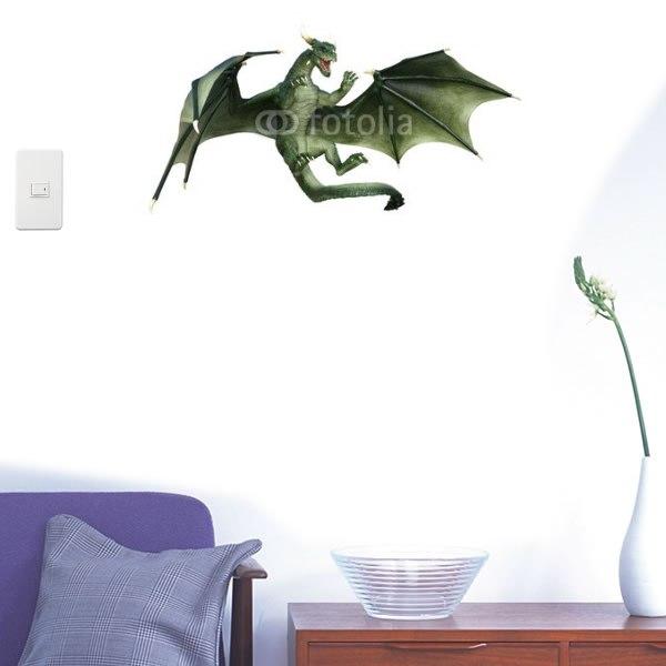 【インテリアシール】迫力あるドラゴン 壁シール