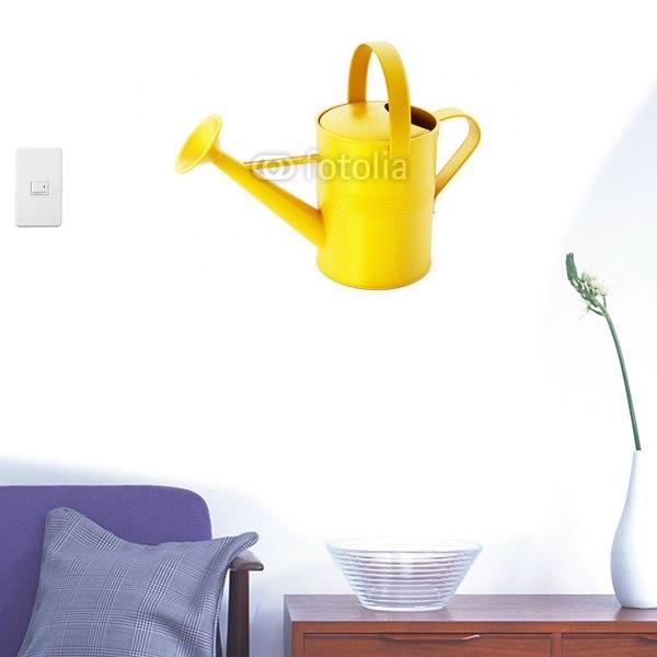 【インテリアシール】黄色いじょうろ 壁シール